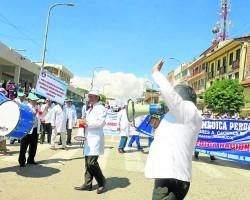 Huancayo: Mil pacientes sin operar por huelga médica.!!
