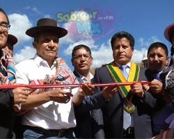 Pampas Tayacaja: Presidente Ollanta Humala inaugura asfaltado Imperial Pampas.!!
