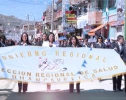 Diresa Huancavelica desfila por sus 30 años de vida institucional.!!