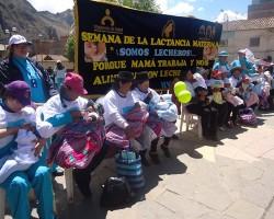 Huancavelica se prepara para celebrar la semana de la lactancia materna.!!