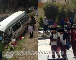 Pampas Tayacaja: Combi se despista y deja cerca de 30 heridos entre alumnas y docentes del Colegio Lourdes.!!
