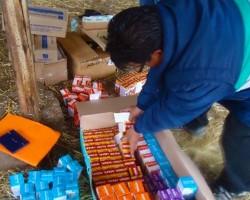 Huancavelica: Campesinos afectados por lluvias y huaicos reciben ayuda.!!