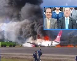 Los 3 miembros de la Comisión Organizadora de la UNAT pasaron el susto de sus vidas en Avión de Peruvian Airlines que se incendió en aeropuerto de Jauja.!!