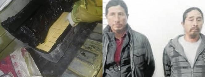 Pampas Tayacaja: Hermanos llevaban droga a Huancayo, escondida en cajas de herramientas.!!