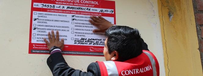Contraloría advierte deficiencias en instituciones educativas públicas de Huancavelica podrían afectar metas educativas.!!