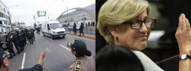 Susana Villarán fue recluida en el penal de Chorrillos, donde está Keiko Fujimori.!!